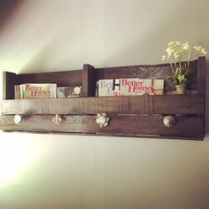 Reclaimed Rustic Pallet Wood Furniture Pallet by GBTButtonsNBows - Diy Furniture Beds Ideen Decor, Painted Bedroom Furniture, Rustic Patio Furniture, Small Bedroom Furniture, Wood Furniture, Pallet Decor, Wood Pallet Furniture, Upcycled Furniture Diy, Pallet Shelves