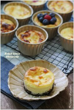 """This is a super """" over due """" recipe which I found in my """" draft """" a few days back while sorting out some my posts. I guess it has being. No Bake Lemon Cheesecake, Cheesecake Recipes, Cookie Recipes, Dessert Recipes, Cupcakes, Cupcake Cakes, Mini Cheesecakes, Desserts To Make, Lemon Recipes"""