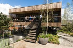 Maggie's Centre, Oldham, uses thermally modified American tulipwood for the exterior cladding. Timber Cladding, Exterior Cladding, Timber Buildings, Steel Columns, How To Level Ground, Interior And Exterior, Hardwood, Architecture, Home