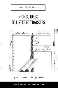 plus de 30 idées de listes et de trackers pour bullet journal Bujo, School Results, Weekly Log, Organization Bullet Journal, Diy Organisation, Bullet Journal Tracker, Bullet Journal Inspiration, Journal Pages, Journal Ideas