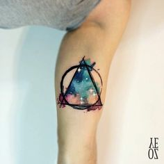 """YELIZ OZCAN on Instagram: """"// geometric nebula #designbyyeliz #yelizozcan #tattoobyyelizozcan"""""""