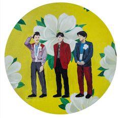 Chen Zhuo, YMO, Oil on Canvas, Diameter 30cm,2013, Gallery Yang