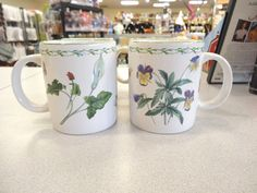 Mikasa Studio Nova GARDEN BLOOM Y2372 COFFEE TEA MUGS  Set 4 UNUSED L5 #MikasaStudioNovaY2372