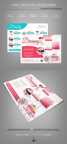 Cake / Sweet Icecream/ Candy Shop - Flyer Template - Corporate Flyers