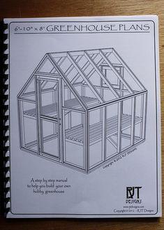 6' 10 x 8' 0 planes de invernadero versión impresa por rjterry