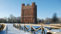 Tattershall Castle in the snow