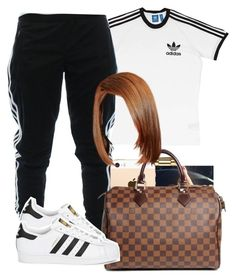 """""""Adidas"""" by arii-bankss ❤ liked on Polyvore featuring adidas, Bulova, Louis Vuitton and adidas Originals"""