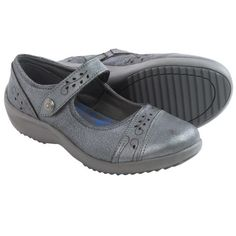 Skechers Relaxed Fit Savor-Flower Fields Mary Jane Shoes  - Leather (For Women) in Gunmetal