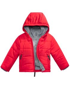 e2b3a764eed4 S. Rothschild Baby Boys Hooded Layered-Look Puffer Jacket