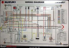 Basic Electrical Wiring, Electrical Circuit Diagram, Electrical Projects, Motorcycle Wiring, Suzuki Motorcycle, Motorcycle Engine, Motorcycle Types, Mustang Engine, Trailer Wiring Diagram