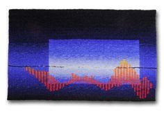Rebecca Mezoff,  Cherry Lake,  8 x 13 inches, wool, cotton