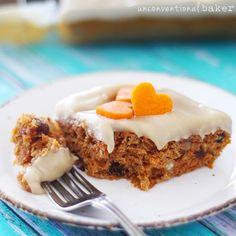 """Healthified"" Carrot Cake {Gluten-Free, Vegan, Refined Sugar-Free}"
