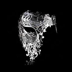 Goodkssop Luxury Mask Women Men's Signature Phantom of the Opera Half Face Skull Cool Mask Metal (Silver) Masquerade Halloween, Masquerade Outfit, Mens Masquerade Mask, Masquerade Party, Mascarade Mask For Men, Masquerade Mask Tattoo, Venetian Mask Tattoo, Venetian Masks, Bijoux Wire Wrap