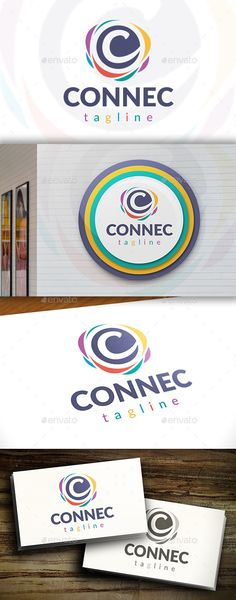 Connect C Letter - Logo Design Template Vector #logotype Download it here: http://graphicriver.net/item/connect-c-letter-logo/11549038?s_rank=288?ref=nexion