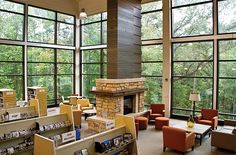 This is the Vestavia Hills Public Library, a new library in my area. They call it the Library in the Forest. Now I see why. Lovely.