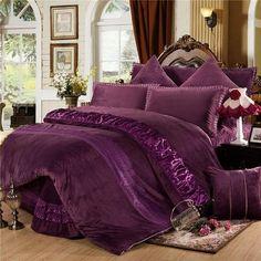 Boho home Duvet Covers - Starlet Duvet Cover Bedding Set Plum Bedding, Purple Bedding Sets, King Size Bedding Sets, Cheap Bedding Sets, Duvet Bedding, Luxury Bedding Sets, Comforter Sets, Colorful Bedding, King Comforter