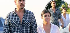 Kourtney and Scott look happy as they hold hands amidst rumours she kicked him out of the house!