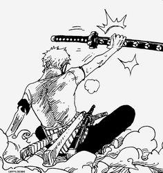Zoro accepts Ryuma's sword