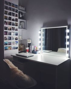 #home #decor #makeup #mirror #polaroid #makeupmirror #bedroom