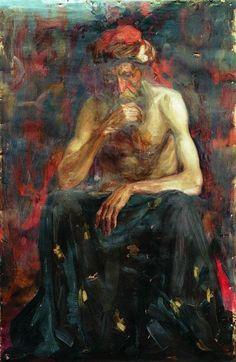"""The model in the turban Ilya Repin, Russian Painting, Russian Art, Art Database, Varanasi, Portrait Art, Oeuvre D'art, Turban, Art World"