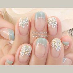 いいね!159件、コメント5件 ― 吉田有香☆private nail salon MyRoomさん(@yukachiso)のInstagramアカウント: 「ブルーグリーンのレースフラワーネイル♪ サンプルから、爽やかカラーに変えてオーダーいただきました(*^^*) #nailart #nails #ネイルアート #ジェルネイル #ネイル…」
