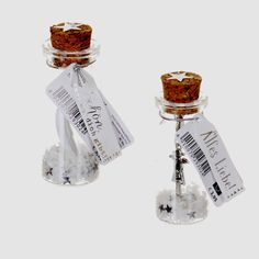 Flaschenpost Schutzengel Schlüssel Anhänger Charm Engel Anhänger im Glas silber