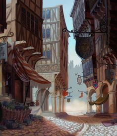 Art of Robert Revels: Background Animation Paintings