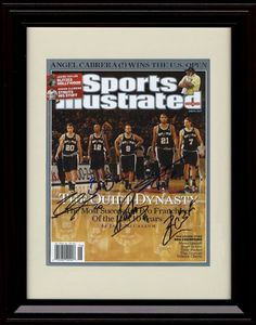 Framed San Antonio Spurs Sports Illustrated Autograph Print