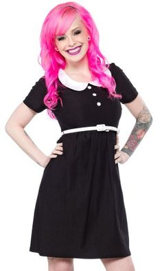 Of course I need another black Peter Pan collar dress! STEADY ANNIE DRESS BLACK