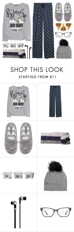 """Sleep In: Lazy Day"" by anyasdesigns ❤ liked on Polyvore featuring Princess Goes Hollywood, M&Co, Sparrow & Wren, Leonardo, Woolrich, Master & Dynamic and DKNY"