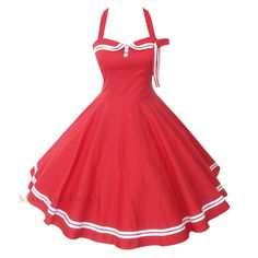 Maggie Tang 50s 60s Vtg Pinup Nautical Sailor Rockabilly Swing Party Dress R 515 | eBay
