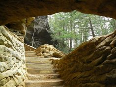 Old Man's Cave tunnel and trails, Hocking Hills State Park - Laurelville, OH