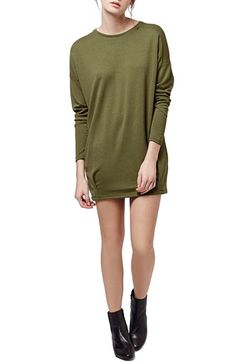 Topshop 'Chuck' Clean Pleat Tunic Sweatshirt available at #Nordstrom