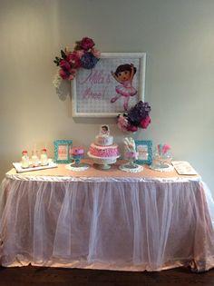 Dora ballerina birthday