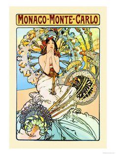 Art Nouveau Monaco, Monte Carlo Alphonse Mucha