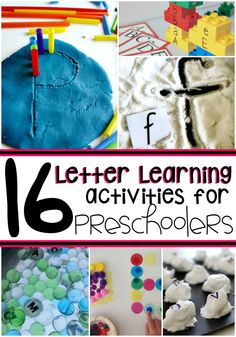 Start teaching your toddler about the alphabet early with these 15 letter learning activities for preschoolers! by tamera Preschool Literacy, Preschool Letters, Early Literacy, Literacy Activities, Preschool Activities, Teaching Toddlers Letters, Kindergarten Prep, Teaching The Alphabet, Learning Letters