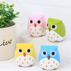 Owl Sharpeners / Cute Sharpeners / Pencil by HappyKiwiGifts