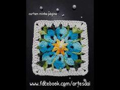 Crochet Mittens Free Pattern, Crochet Edging Patterns, Crochet Headband Pattern, Crochet Squares, Crochet Motif, Crochet Flowers, Crochet Granny, Crochet Hats, Textured Yarn