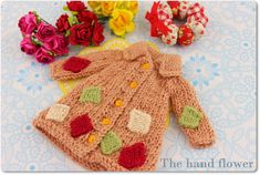 Hand knitted long sleeve sweater for Blythe.