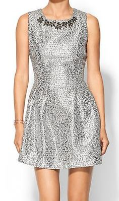 embellished metallic dress  http://rstyle.me/n/vncf2pdpe