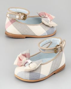 If I have a girl... Newborn Check Shoe - Neiman Marcus.. These have Nyla written all over them!