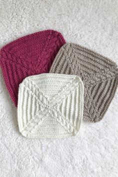 Knit along blanket squares for week 7 of A Day Out KAL by Sarah Hatton for Black Sheep Wools. An exclsuive blanket design with all patterns available to download from Black Sheep Wools. #adayoutkal #knitalong #knitting Knitted Blankets, Knitted Hats, Black Sheep Wool, Blanket Design, Simple Colors, Pattern Names, Days Out, Squares, Winter Hats