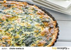 Špenátový quiche recept - TopRecepty.cz Natural Treatments, Pizza, Quiche, Health Fitness, Food And Drink, Low Carb, Cooking Recipes, Vegan, Fruit