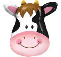 hey it is the smiley cow to amtch the cake...hmm, I think it looks like a first birthday....