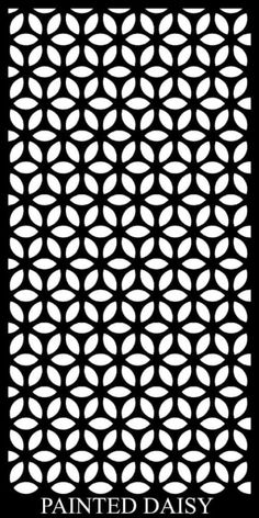 As part of DSD's Geometric range, the Painted Daisy Privacy Screens isn't part of your usual geometric pattern range and was inspired by a the simple daisy. Cnc Cutting Design, Laser Cutting, Islamic Art Pattern, Pattern Art, Hedges Landscaping, Laser Cnc, Jaali Design, Wall Trellis, Daisy Painting