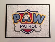Handmade Paw Patrol Birthday Card by JuliesPaperCrafts on Etsy