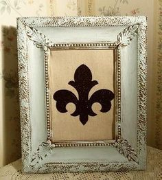 Shabby Chic Aqua painted frame by SimplyGlowingGifts on Etsy