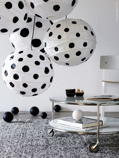 lamp with dots