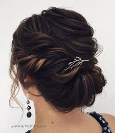 44 Trendy wedding hairstyles for long hair updo gibson tuck Medium Length Curls, Updos For Medium Length Hair, Up Dos For Medium Hair, Medium Hair Styles, Short Hair Styles, Updo Styles, Hair Medium, Easy Updo Hairstyles, My Hairstyle