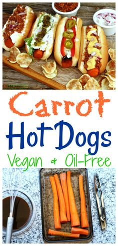 Grilled Carrot Hot Dogs Okay, my confession is that, though I love raw carrots, I have never cared for cooked carrots much. That is until these grilled carrot dogs came into my life. No kidding, these things have changed my mind about cooked carrots! Carrot Hot Dogs Recipe, Carrot Dogs, Hot Dog Recipes, Whole Food Recipes, Free Recipes, Grilled Carrots, Cooked Carrots, Vegan Starters, Vegans